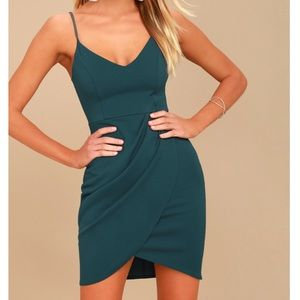 Lulus   Forever Your Girl Teal Blue Bodycon Dress